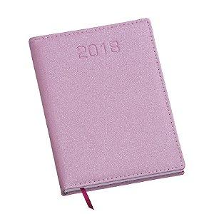 LG183 Agenda Diária capa em couro sintetico Rosa