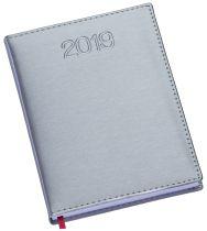 LG186 Agenda Diária com capa em couro sintético Cinza