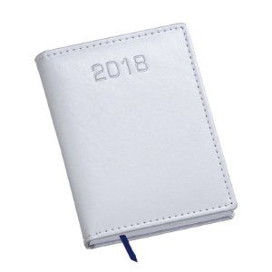LG213 Agenda Compacta capa em couro sintético branco