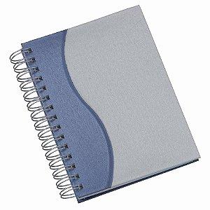 """LGS281 Agenda Wire-O Percalux """"S"""" em Azul Royal"""
