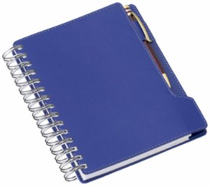 LG288 Agenda Wire-O de mesa Azul Royal