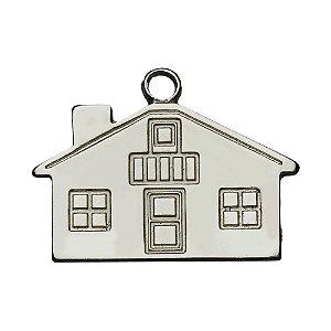 MAT-CS Pingente Casa  com area para etiqueta resinada no verso
