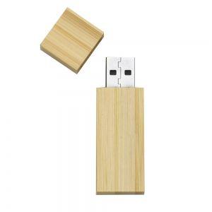 Pen drive Personalizado de bambu com tampa