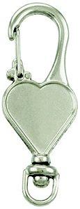Chaveiro mosquetão coração