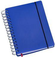LG423 Agenda Compacta em Wire-O Capa Plástica Azul