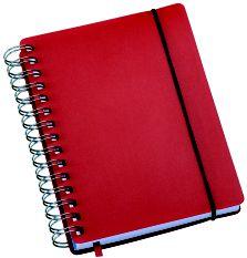 LG425 Agenda Compacta Wire-O Capa Plástica Vermelha