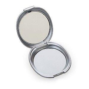 Espelho oval plástico duplo sem aumento.