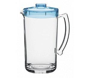 Jarra 2L - Kaballa Acrílico - Cristal/Azul Royal