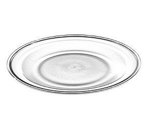 Prato Raso 22cm - Kaballa Acrílico - Cristal