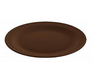 Prato Raso 22cm - Kaballa Acrílico - Chocolate