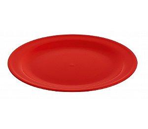 Prato Raso 22cm - Kaballa Acrílico - Vermelho