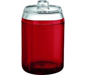 Porta Algodão - Kaballa Acrílico - Vinho / Cristal