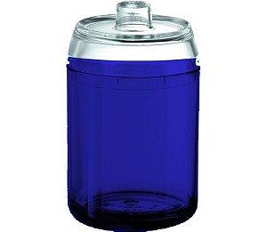 Porta Algodão - Kaballa Acrílico - Azul Marinho / Cristal