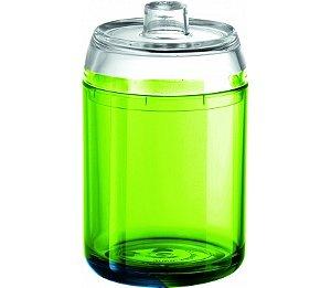 Porta Algodão - Kaballa Acrílico - Verde / Cristal