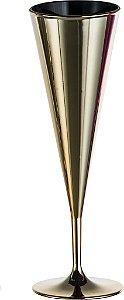 Taça Monalisa Metalizada 180ml - Kaballa Acrílico - Dourado