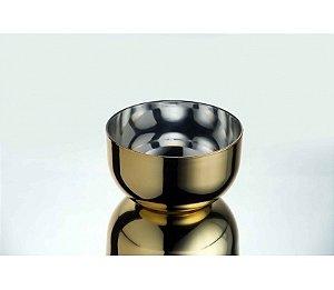 Tigela Bowl Metalizado 1L - Kaballa Acrílico - Dourado