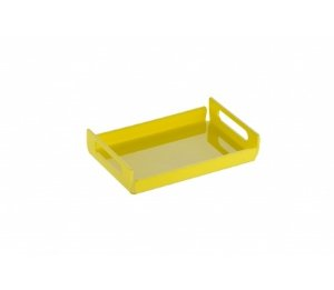 Bandeja Duo Pequena 25cm x 17cm x 5cm - Kaballa Acrílico - Amarelo