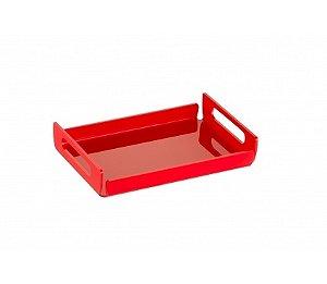 Bandeja Duo Média 35cm x 22cm x 5cm - Kaballa Acrílico - Vermelho