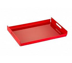 Bandeja Duo Grande 45cm x 30cm x 5cm - Kaballa Acrílico - Vermelho