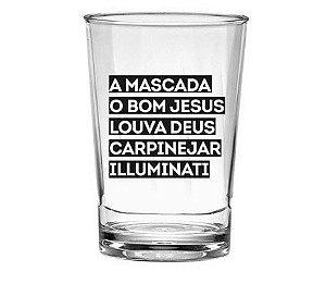 Copo Pretinho Básico 350ml - Mascada Illuminati - Kaballa