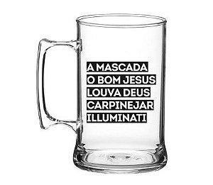 Caneca Pretinho Básico 450ml - Mascada Illuminati - Kaballa