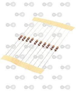 Resistor 10R 1/4W (tira com 10 unidades)