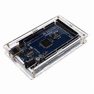 Case para Arduino Mega em Acrílico Transparente