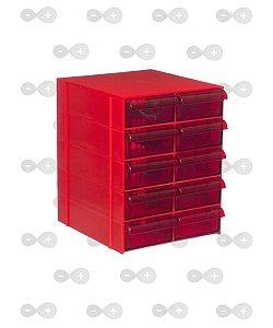 Conjunto de gaveteiro 5 módulos com 10 gavetas Cg 510