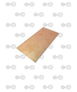Placa de fenolite simples 10x30