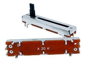 POTENCIÔMETRO DESLIZANTE A20K PERCURSO 30mm