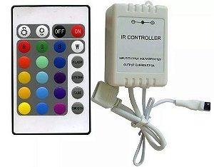 CONTROLADOR RGB COM CONTROLE REMOTO