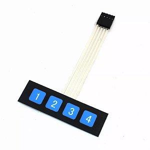 Teclado Matricial 4 Teclas Para Arduino