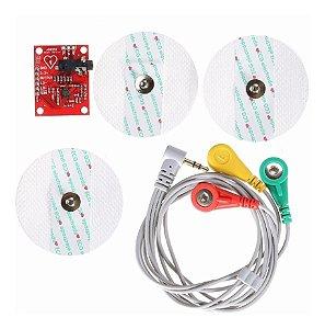Módulo Ad8232 Kit Medição Ecg Pulso Cardíaco Para Arduino
