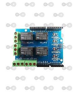 Modulo Rele 4 Canais Shield Para Arduino