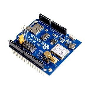 Shield GPS Suporte Cartão SD + Antena 3M