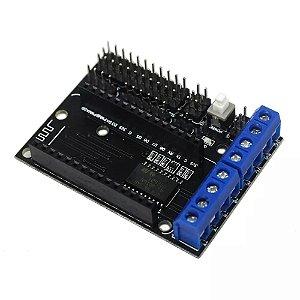 Shield Driver L293D Para NodeMCU WiFi ESP8266 ESP12E CP2102