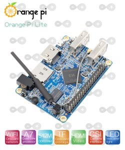 Orange Pi Lite Com Quad Core 1.2ghz 512 Mb Ddr 3 Novo