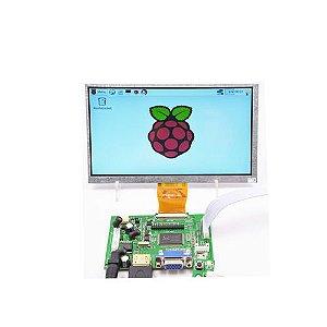 Tela Módulo Lcd + Módulo Hdmi - 7 Pol 800 X 480 Raspberry