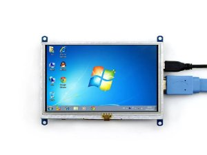 Tela Touch Screen 5 Polegas Com Suporte Para Raspberry