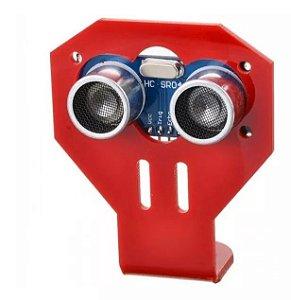 Suporte Sensor Ultrassônico HC-SR04 vermelho