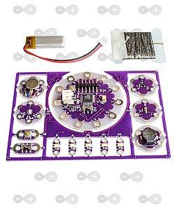 Kit Arduino Lilypad Com Módulos E Bateria
