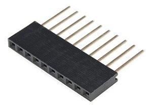 Barra De 10 Pinos Fêmea / Conector Empilhável Para Arduino