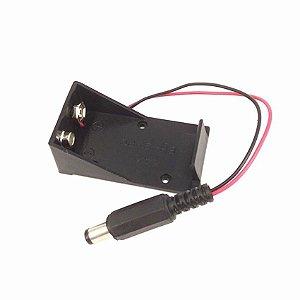 Case Suporte Bateria 9v Com Saída P4
