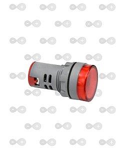 Sinaleiro Led Voltímetro Digital 60-500vca 22mm Boa Precisão