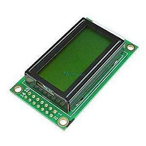 Display LCD 8x2 Com Backlight Verde Para Arduino