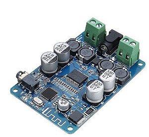 Amplificador De Áudio Bluetooth Receptor TDA7492P Azul 25+25W