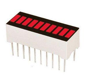 Barra Gráfica De LED Vermelha - 10 Segmentos