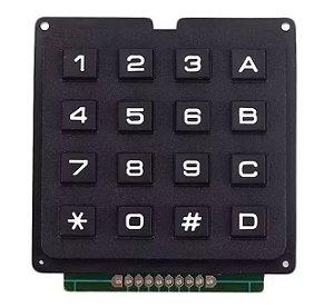 Teclado Matricial 4X4 Rígido 16 Teclas Para Arduino