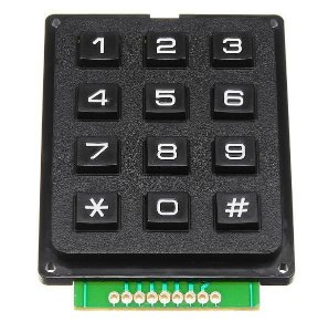 Teclado Matricial 4X3 Rígido 12 Teclas Para Arduino