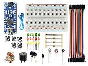 Kit básico eletrônica com arduino nano compatível
